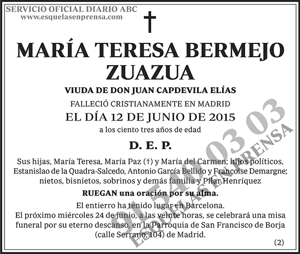 María Teresa Bermejo Zuazua